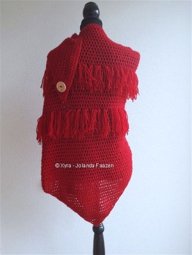 PATR0978 - Shawl with fringes