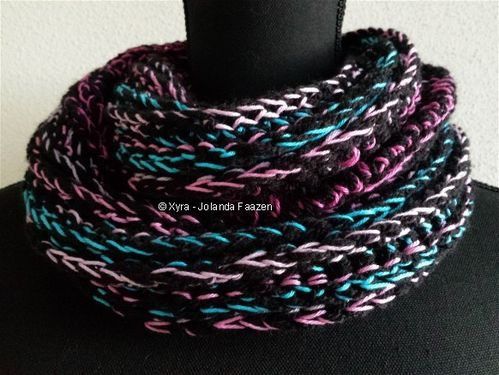 PATR0995 - Cowl/scarf with ridges