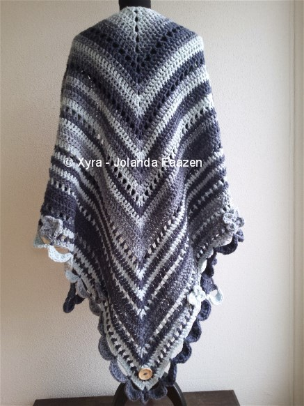 Crochet Xxl Patterns : PATR1002 - Shawl XXL - Xyra Creaties