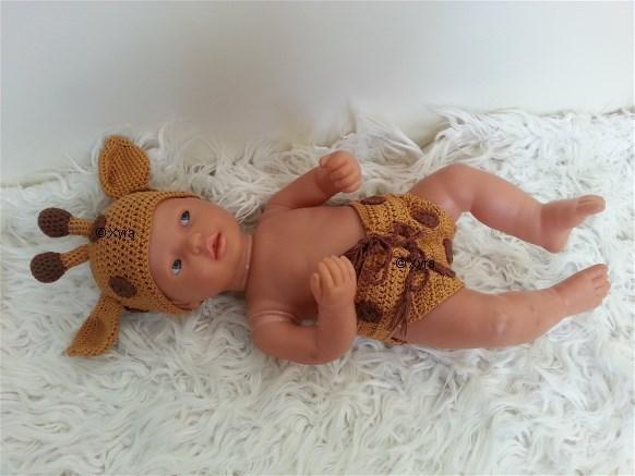 Patr0202 Newborn Baby Outfit Giraffe Xyra Creaties