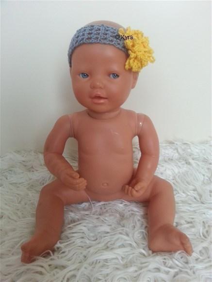 Patr0205 Newborn Baby Haarband Bloem Xyra Creaties