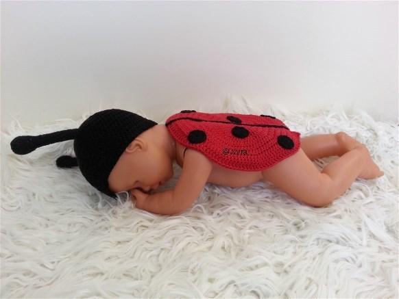 Patr0207 Newborn Baby Outfit Lieveheersbeestje Xyra Creaties