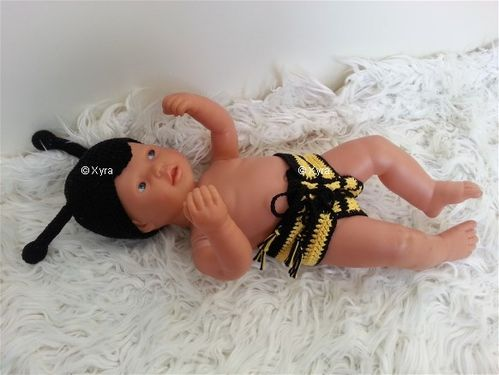 PATR0214 - Newborn - baby-outfit - bee