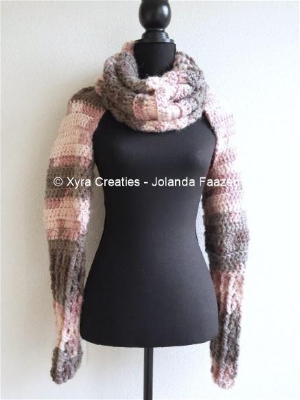 Patr1056 Sjaal Met Mouwen Xyra Creaties