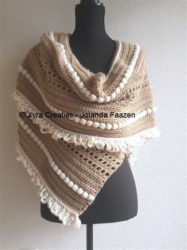 PATR1064 - Shawl with scarf - asymmetrical