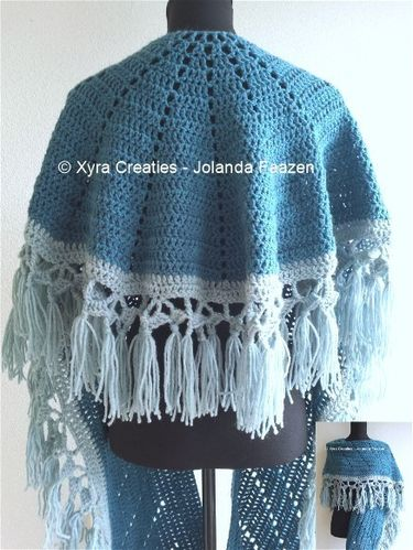 PATR1065 - Shawl with scarf - round