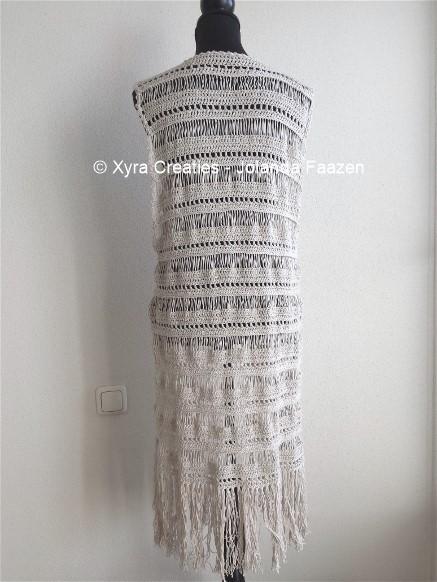 Patr1075 Lang Gilet Vest Zonder Mouwen Boho Ibiza Style