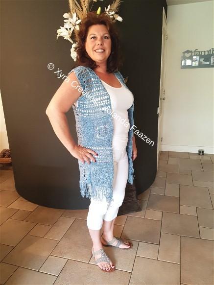 Patr1077 Long Gilet Vest Without Sleeves Boho Ibiza Style