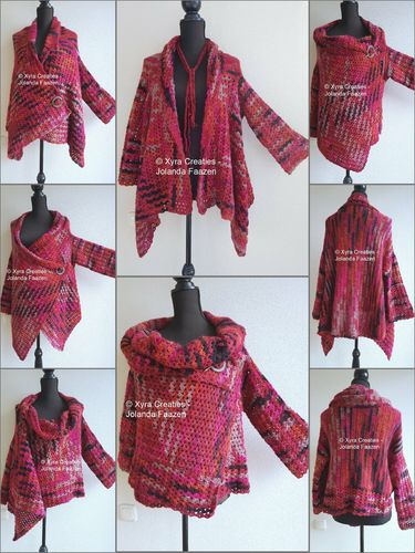 PATR1106 - Vest-cardigan - upside down - different ways to wear