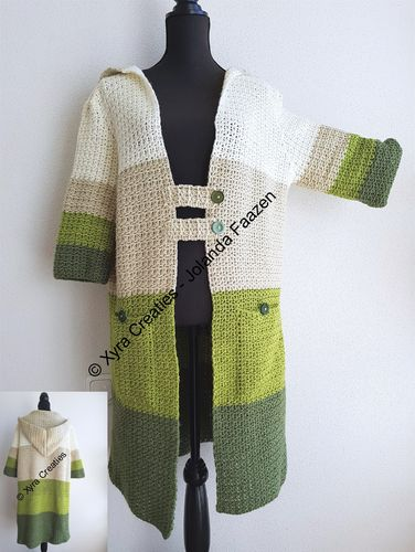 PATR1108 - Vest / cardigan with hood