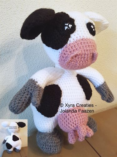 "PATR1110 - Buddy - knuffel - ""Bettie"" de koe"