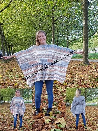 PATR1119 - Straight poncho - one size